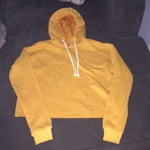 Sweaters - Crop yellow hoodie